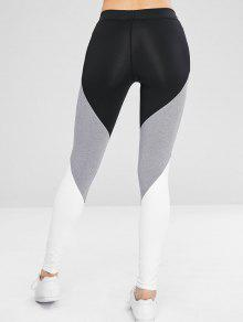 Athletic Color Block Gym Sport Leggings