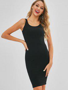 فستان بدون أكمام - أسود