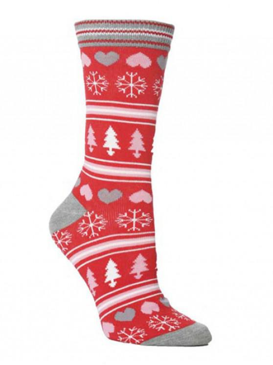 latest Christmas Party Novelty Crew Socks - MULTI-D