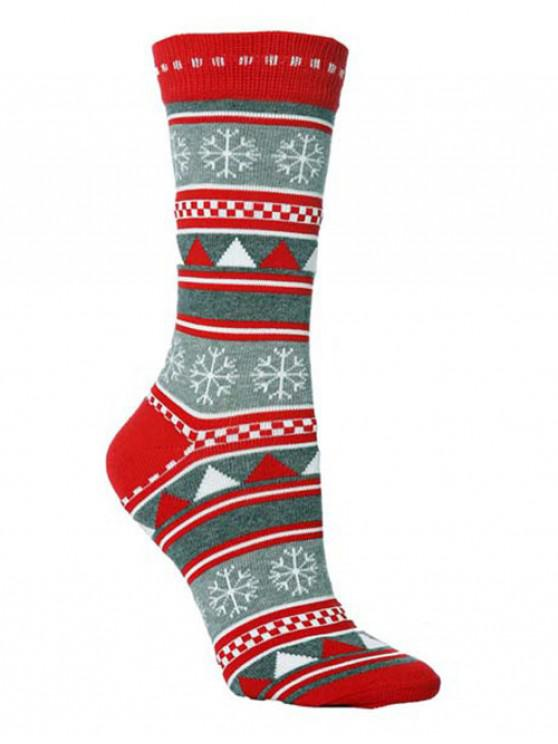 Christmas Party Novelty Crew Socks - متعددة C