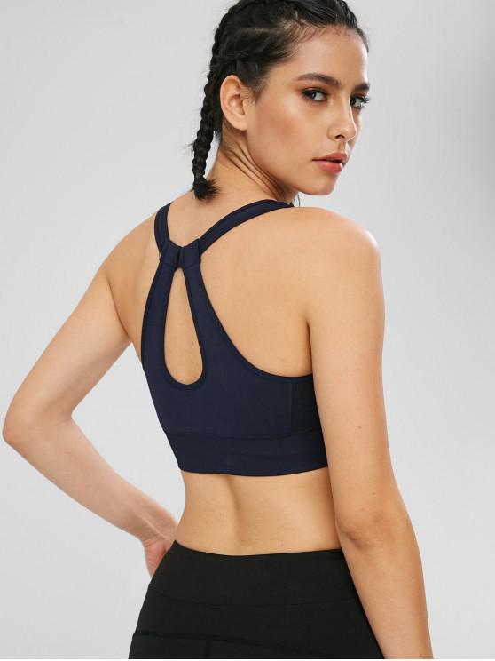 Sutiã acolchoado para trás Yoga Gym - Azul M
