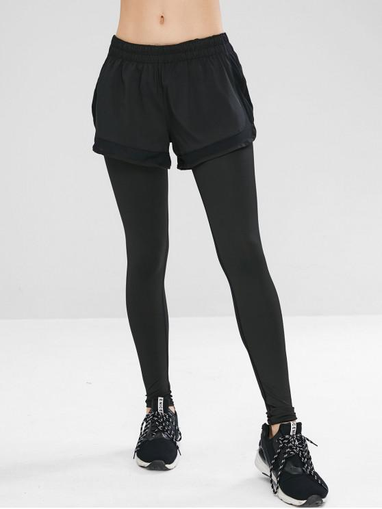 Leggings Sportivi - Nero L
