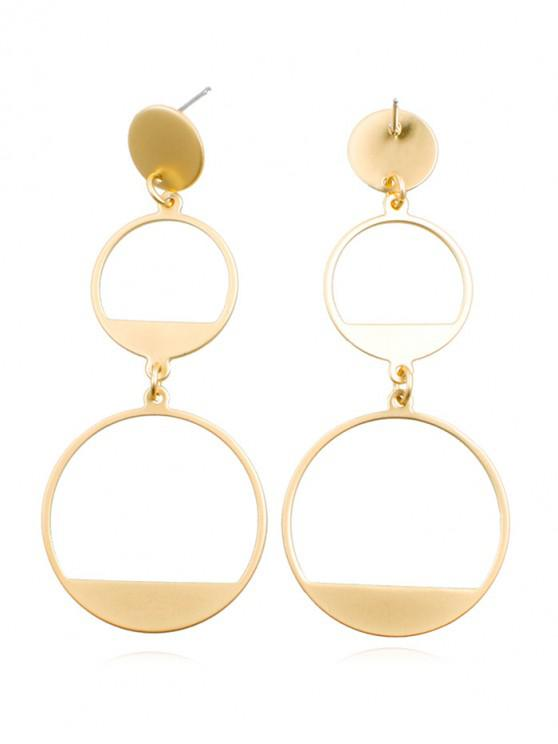 chic Hollow Round Shape Alloy Drop Earrings - GOLD