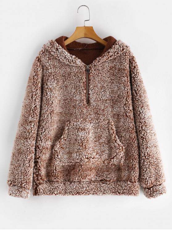 outfit ZAFUL Pouch Pocket Fleece Hoodie - MULTI L