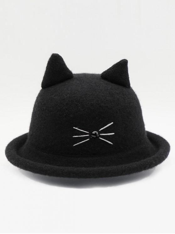 new Cute Cartoon Cat Woolen Hat - BLACK
