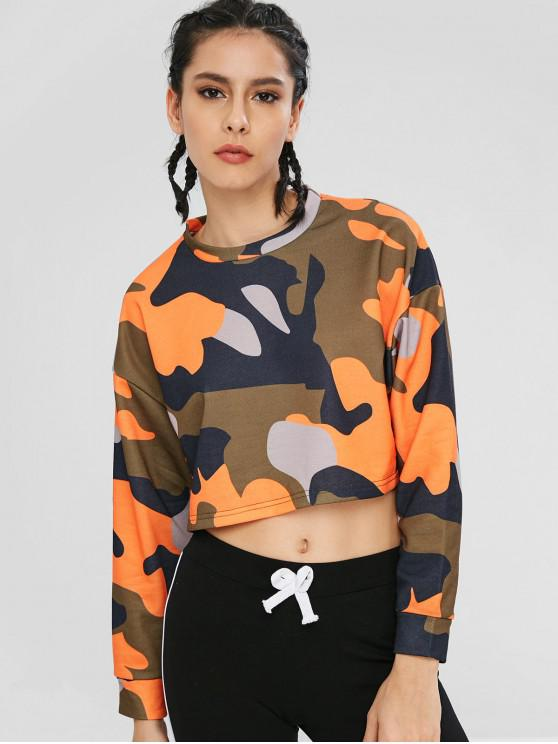 ba25fd00264f73 31% OFF  2019 Camouflage Crop Top In MULTI