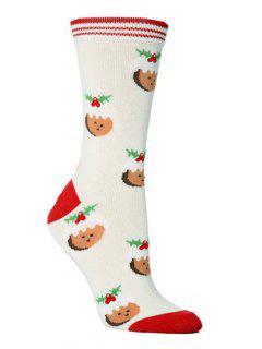 Christmas Party Novelty Crew Socks - Multi-e