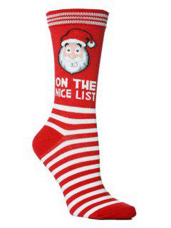 Christmas Party Novelty Crew Socks - Multi-a
