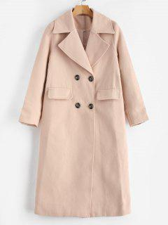 Double Breasted Trench Coat - Apricot M