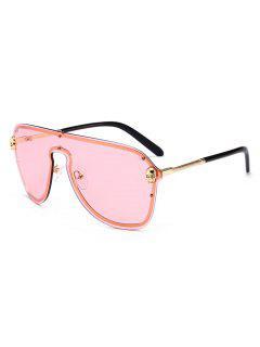 Punk Skull Decorative Shield Sunglasses - Pink