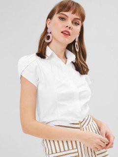 Chemise Boutonnée à Manches Courtes - Blanc M