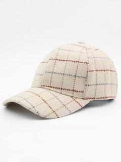 Plaid Adjustable Duckbill Cap - Beige