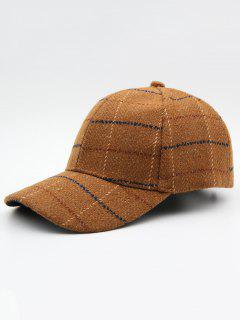 Plaid Adjustable Duckbill Cap - Oak Brown