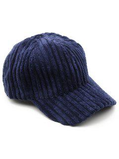 Vintage Thick Striped Adjustable Baseball Cap - Midnight Blue