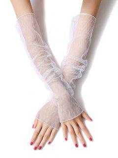 Vintage Summer Rhombus Thin Gloves - White