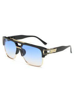 Stylish Crossbar Alloy Punk Sunglasses - Light Sky Blue