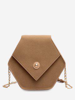 Link Chain Surb Leather Crossbody Bag - Light Khaki