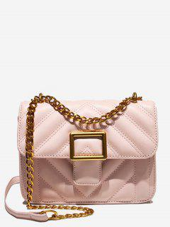 Thread Mini Design Crossbody Bag - Orange Pink