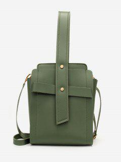 Vertical Shape Rivet Design Crossbody Bag - Medium Forest Green