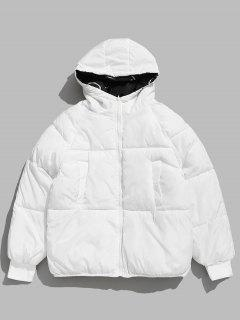 Cartoon Graphic Reversible Puffer Jacket - White S