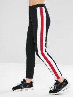 ZAFUL High Waist Side Striped Leggings - Black Xl