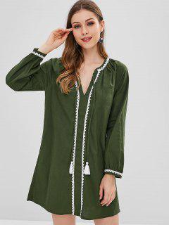 Robe Tunique à Lacets - Vert Fougère L