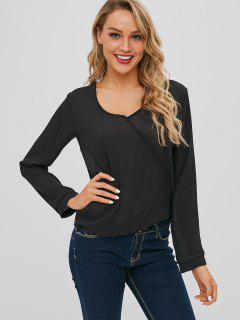 Top Fluide En Mousseline - Noir 2xl