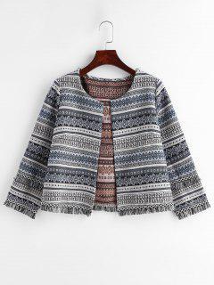 Veste En Tweed À Franges - Multi L