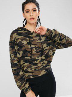 Athletic Camo Drawstring Sport Hoodie - Acu Camouflage L