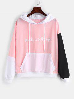 Front Pocket Color Block Graphic Hoodie - Multi-a 2xl