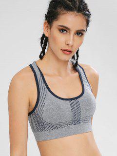 Sport Racerback Gym Yoga Bra - Gray L