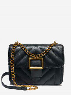 Thread Mini Design Crossbody Bag - Black