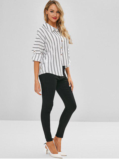 Jeans ajustados de cintura alta - Negro L Mobile