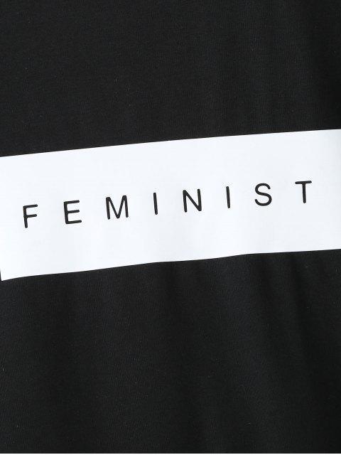 T-shirtGraphique à Manches Courtes - Noir L Mobile