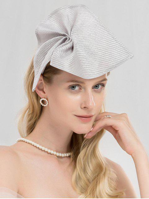 women Solid Color Cocktail Party Hair Band - SILVER  Mobile