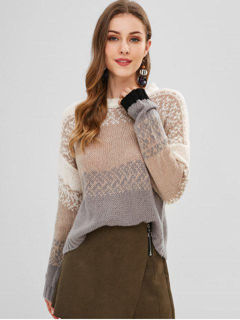 latest Loose Knit Boxy Sweater - MULTI ONE SIZE Mobile