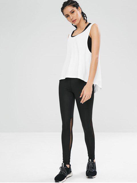 Débardeur de Gym Athlétique Sans Dos - Blanc M Mobile