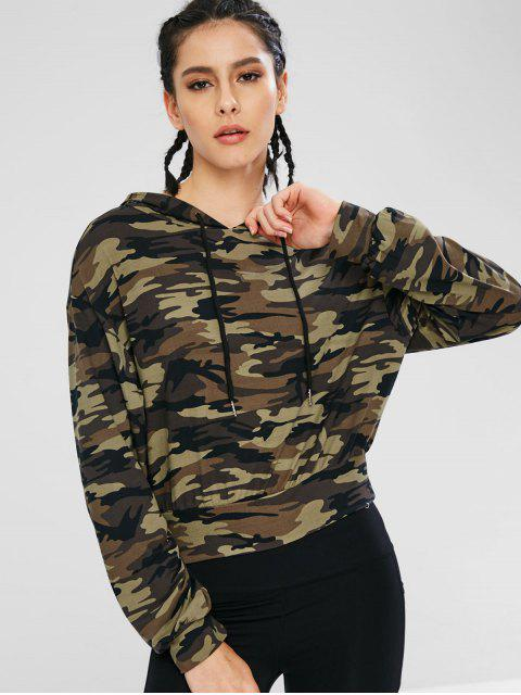 womens Athletic Camo Drawstring Sport Hoodie - ACU CAMOUFLAGE M Mobile