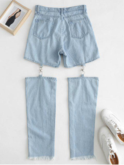 Dobladillo deshilachado recortar vaqueros - Azul de Jeans  M Mobile