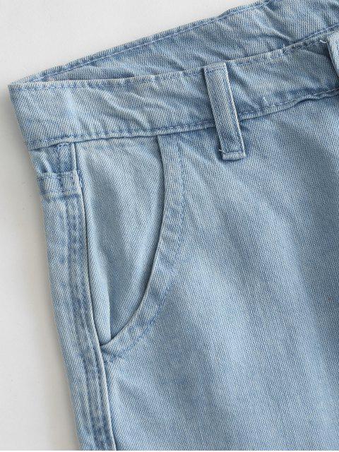 Dobladillo deshilachado recortar vaqueros - Azul de Jeans  L Mobile