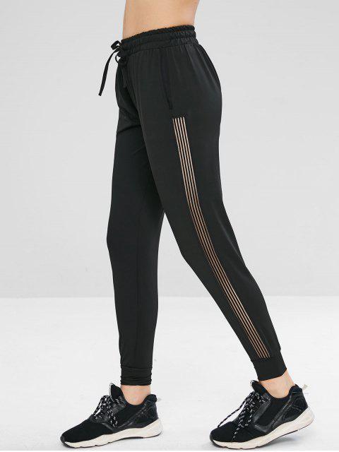 Pantalon de Sport de Gym à Cordon - Noir M Mobile