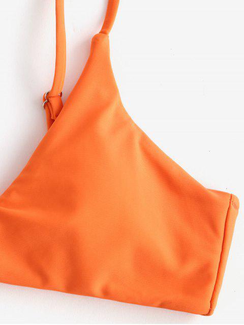 ZAFUL Ensemble de Bikini Rembourré Gerrure Métallique - Orange Citrouille L Mobile