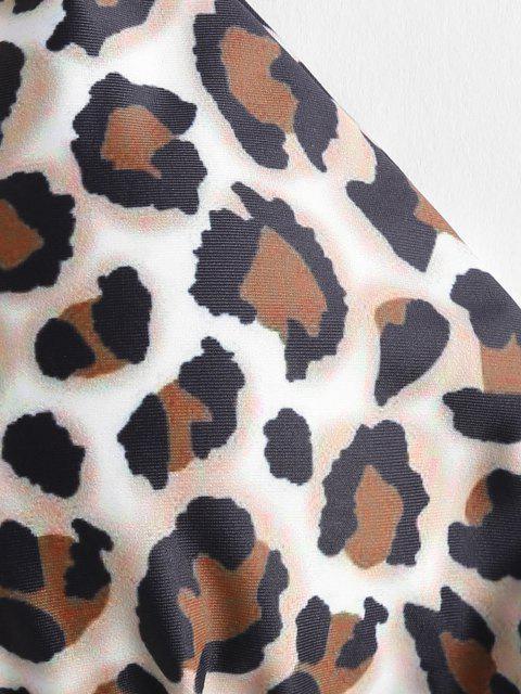 hot ZAFUL Leopard Snakeskin Print String Bikini - MULTI-A L Mobile