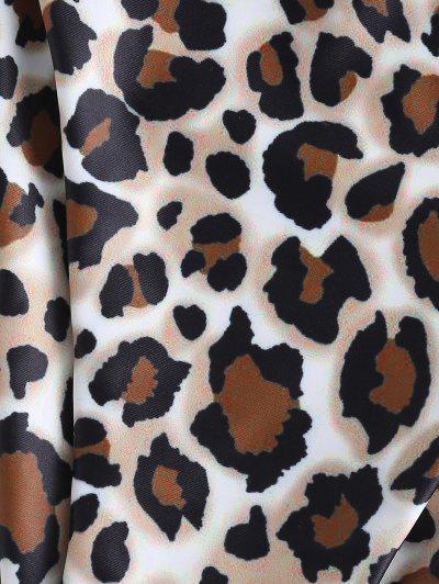 ZAFUL Leopard Snakeskin Print String Bikini