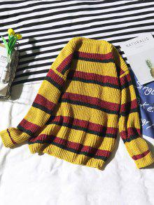 772fc8038 27% OFF  2019 Stripe Loose Knit Sweater In YELLOW