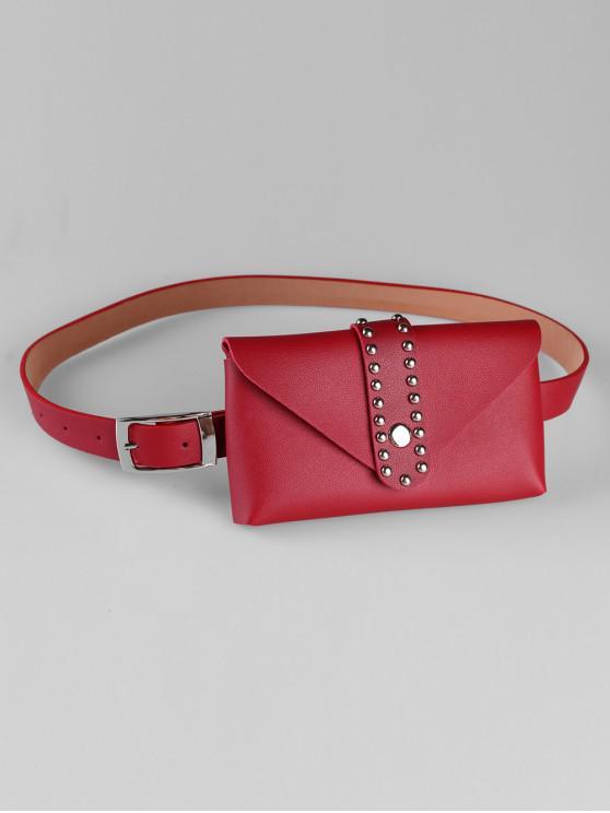 fashion Removable Fanny Pack Waist Belt Bag - RED