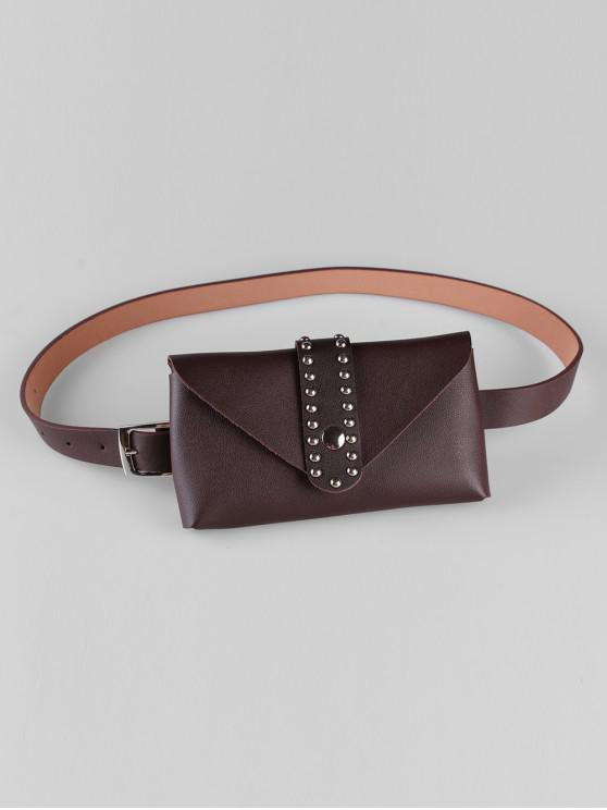 outfit Removable Fanny Pack Waist Belt Bag - COFFEE