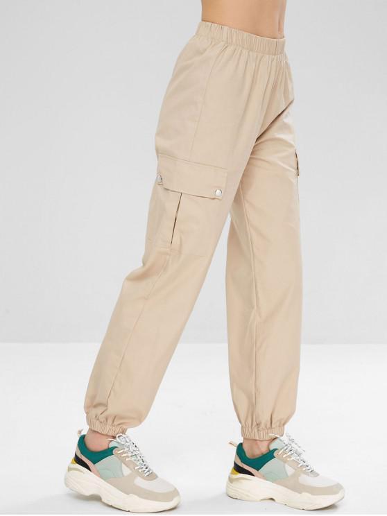 shop Sports Cargo Jogger Pants - LIGHT KHAKI L