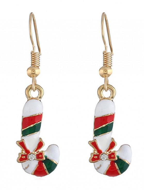 best Candy Bar Bowknot Decor Hook Earrings - GOLD