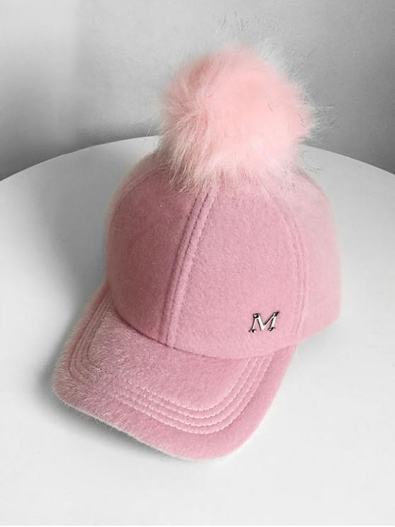 848577baa 16% OFF] 2019 Letter M Fuzzy Ball Baseball Hat In LIGHT PINK | ZAFUL